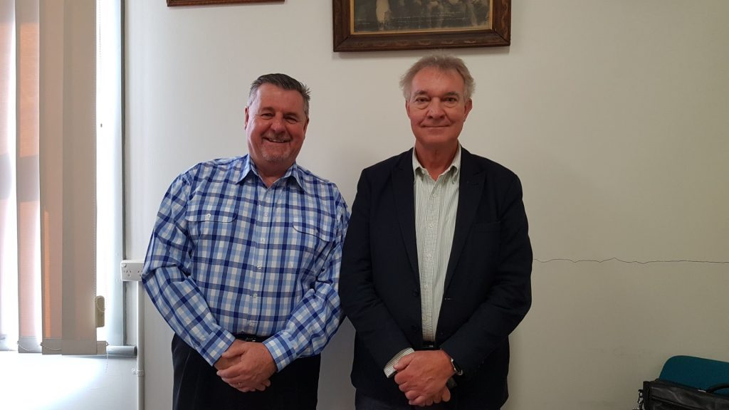 New England Joint Organisation Chair Michael Pearce with Cardno Project Manager Andrew Malowiecki